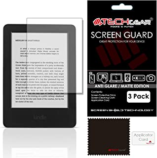 """[Pack of 3] TECHGEAR Amazon Kindle 6"""" Glare-Free Touchscreen Display eReader MATTE ANTI-GLARE Screen Protectors with Clean..."""