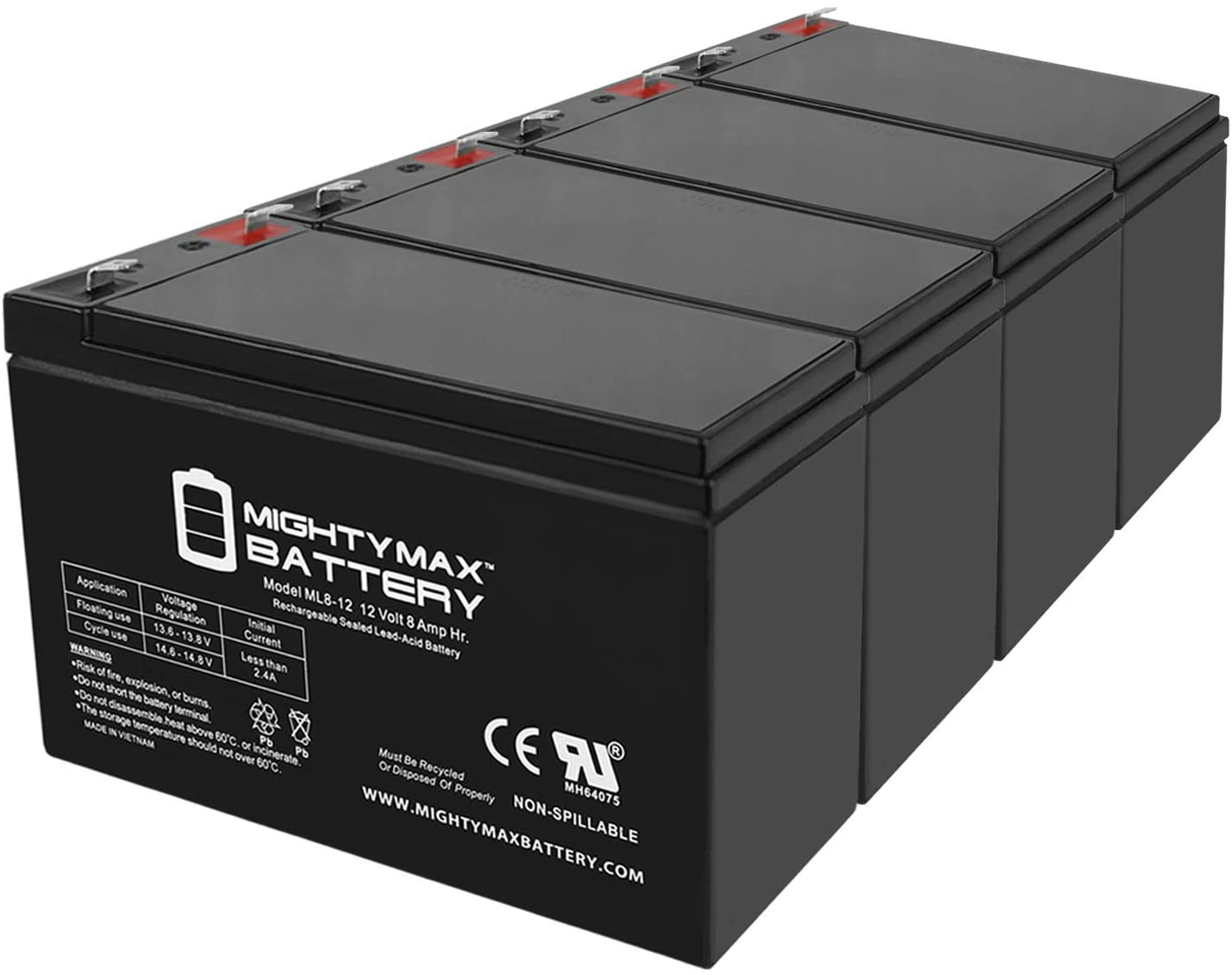 Mighty Max Battery 12V Over item handling ☆ 8Ah Very popular! Texas Hunter Replaces 50 lb.