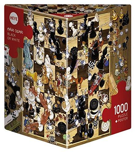Heye- Puzzle Bianco o Nero, 1000 Pezzi, Multicolore, 8793