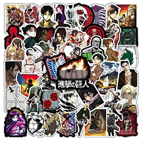 Set Attack On Titan Japanese Anime Cartoon Graffiti Stickers For Motorcycle Laptop Kids Skateboard Phone Case Cool 50Pcs/