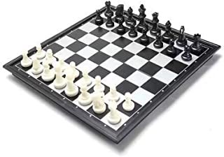 Magnetic Travel Chess Set - Contains Chess Pieces And Chess Board, Two More Queens Are Given - The Bottom Of The Chess Pie...