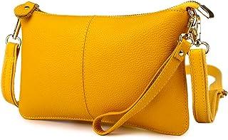 Artwell Women Genuine Leather Clutch Handbag Crossbody Shoulder Wristlet  Purse for Party Wedding Shopping 614f58b7a987c