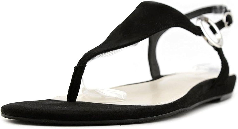 Alfani Womens Honnee Open Toe Casual Ankle Strap Sandals, Black, Size 7.0