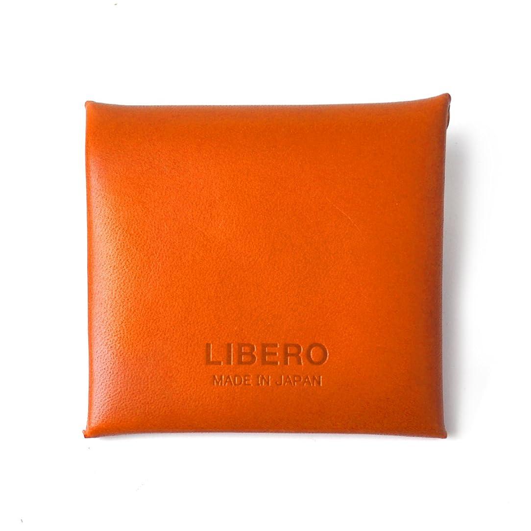 混合した配送巻き取り[リベロ] LIBERO コインケース メンズ 牛革 栃木レザー 小銭入れ オレンジ 【LJ-700】