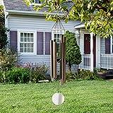 ABREOME Windspiel Chimes of Mercury Windspiel Klangspiel Metall-Design Deko Mobile Klangröhren Klang-Spiel Entspannung Garten