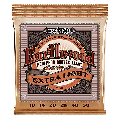 Ernie Ball Earthwood Phosphor Bronze Extra Light (10-50) Acoustic Guitar Strings (P02150) Georgia