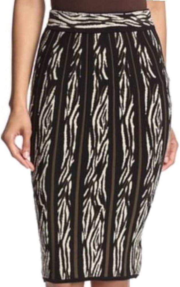 Ronny Kobo Women's Zebra Safari Multi Color Jacquard Skirt