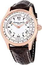 Frederique Constant HSW White Dial Leather Strap Men's Watch FC282ASB5B4