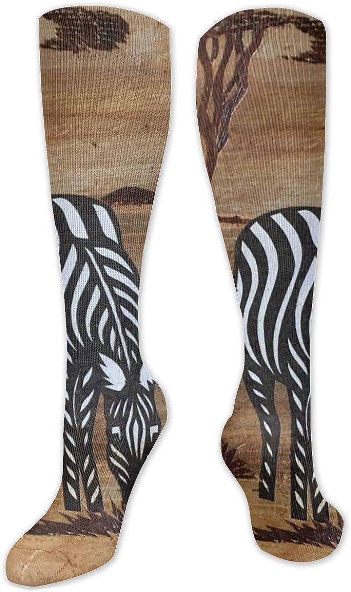 Zebras Of African Art Knee High Socks Leg Warmer Dresses Long Boot Stockings For Womens Cosplay Daily Wear