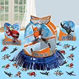 Amscan DisneyPlanes 2 Birthday Party Assorted Table Decorating Kit (23 Pack), 12 3/5', Blue/Orange