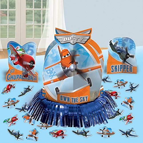 "Amscan DisneyPlanes 2 Birthday Party Assorted Table Decorating Kit (23 Pack), 12 3/5"", Blue/Orange"