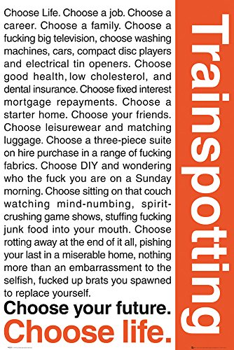 GB EYE LTD FP0275 Maxi-Poster Trainspotting Quotes, 61 x 91,5 cm