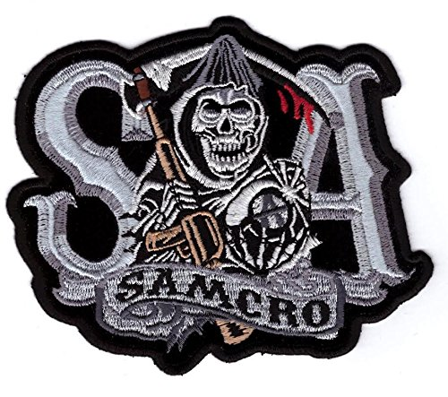 Titan One Europe Samcro Sons of Anarchy Motorcycle Club Iron On Patch Parche Bordado Termoadhesivo
