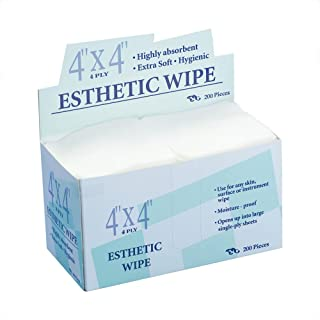 Esthetic Wipes - Appearus 4x4 Nonwoven Lint Free Spa Facial Wipes (200 Count)