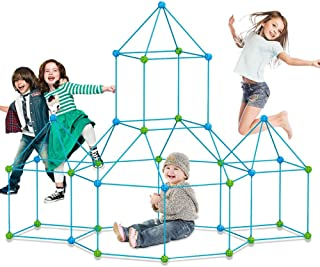 Fort Building kit for Kids 120 Pieces Air Forts Builder Gift Kid Construction Toys for Boys and Girls Ages 3-5-7 DIY Fun F...