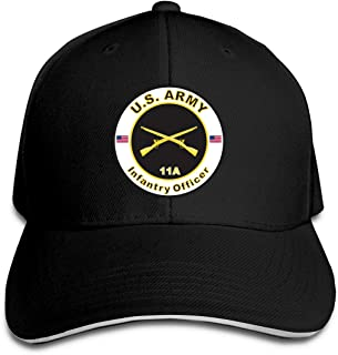 Army MOS 11A Infantry Officer Adjustable Baseball Caps Vintage Sandwich Hat