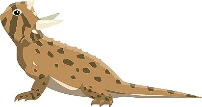 Reptile Lizard Variety Herpetology Biology Breeds Animal Cartoon Vinyl Sticker, Horned