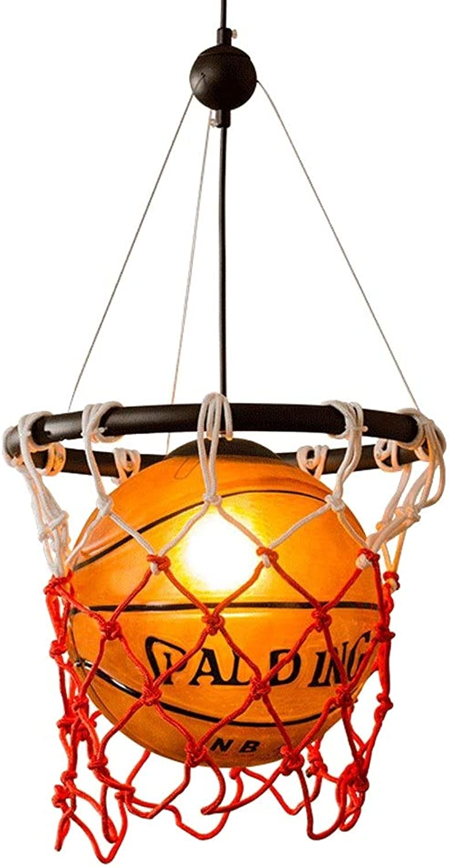 Amerikanische Vintage Basketball Pendelleuchte, Kreative Retro Glas Kronleuchter DIY Braid Basketball Net Pendelleuchte, Restaurant Bar Kronleuchter Sport Theme Park Kinder E27Ceiling Hngelampe