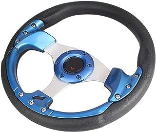 GZYF 13 inches Blue 6 Bolt Steering Wheel