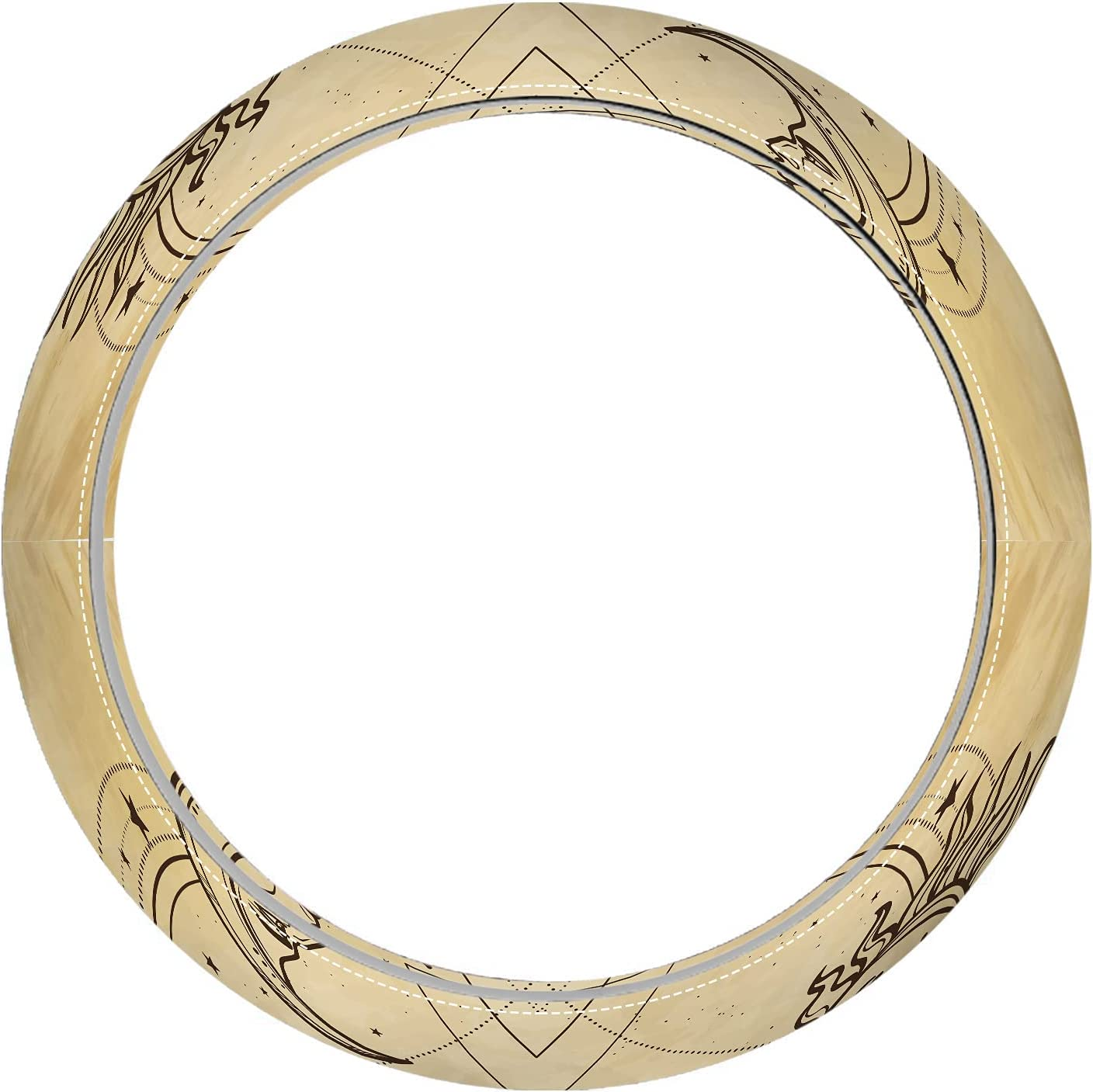 Nicokee Sun and Moon Steering Wheel Mystical Face St Free shipping anywhere in Safety and trust the nation Human Cover