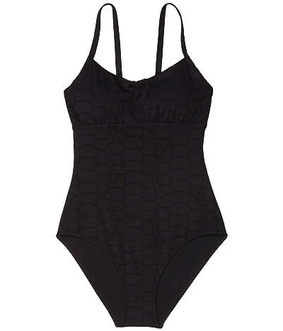 Vilebrequin Feria Jacquard Turtle Scales One-Piece Swimsuit (Black) Women