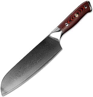 Couteau de Chef's Damascus Acier Couteau de cuisine Professionnelle Santoku Viande Sharp Couteau Couteau Couteau à ongles ...