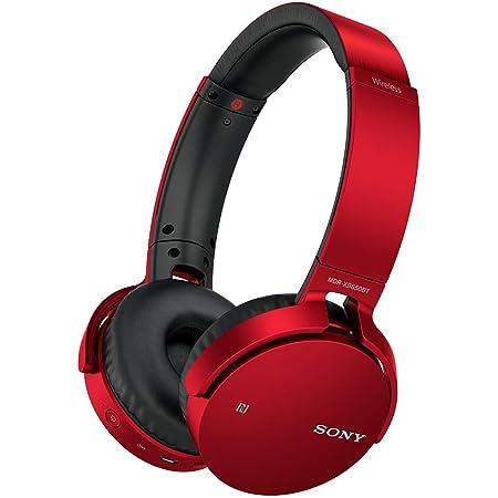 ソニー ワイヤレスヘッドホン 重低音モデル MDR-XB650BT : Bluetooth対応 折りたたみ式 レッド MDR-XB650BT R