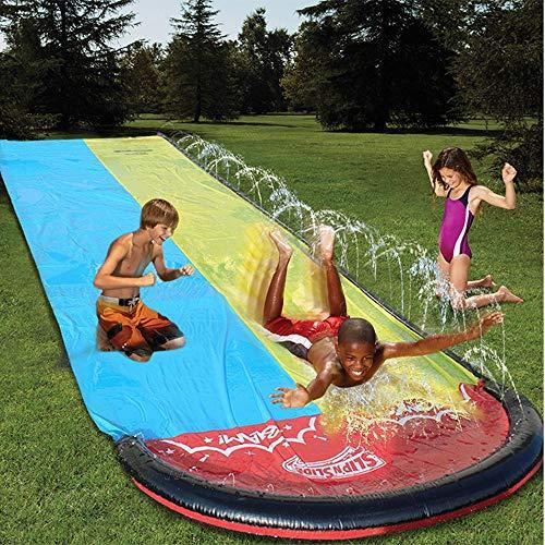 LiKin Túnel de Agua Tobogán Juegos Jardin,Hinchables Tobogan para Piscina para Familias Amigos y Fiestas La Piscina (Size : 480x140cm)
