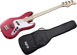 Monoprice Indio Jamm Bass - Wine Red, With Gig Bag
