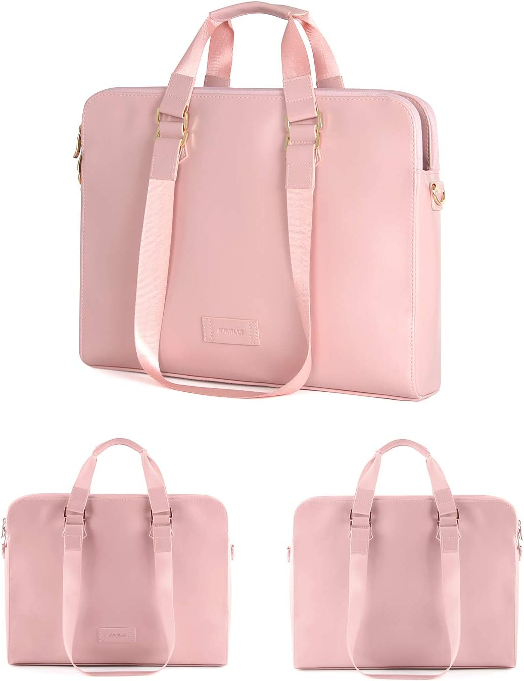 for Women PU Waterproof Fashion Shoulder Messenger Computer Laptop Case (Pink) Kamlui 15.6 Inch Laptop Bag