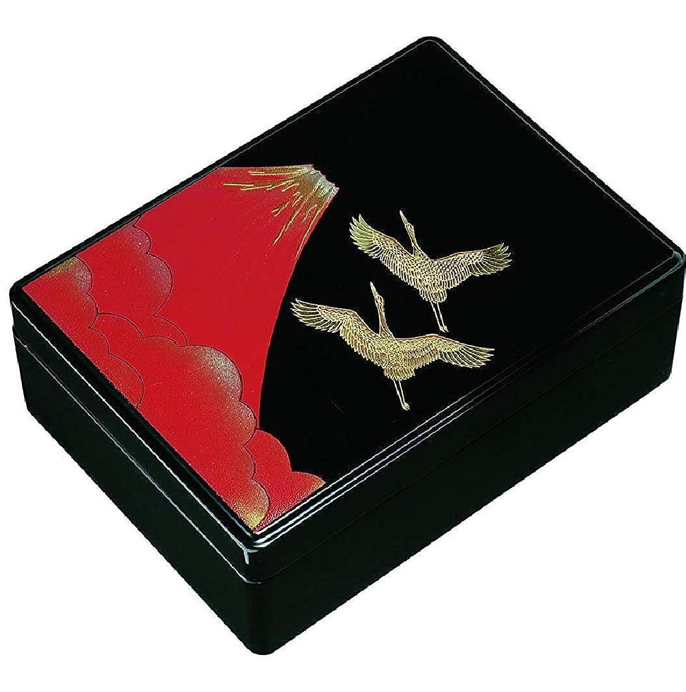 アラバマ敬の念ノベルティ21-83-9 11.0DX合口文庫 赤富士&盛絵鶴(内梨地)