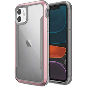 Raptic Shield, Compatible with Apple iPhone 11 Pro (Formerly Defense Shield) - Military Grade Drop Tested, Anodized Aluminum, TPU, and Polycarbonate Protective Case, Apple iPhone 11 Pro, Rose Gold