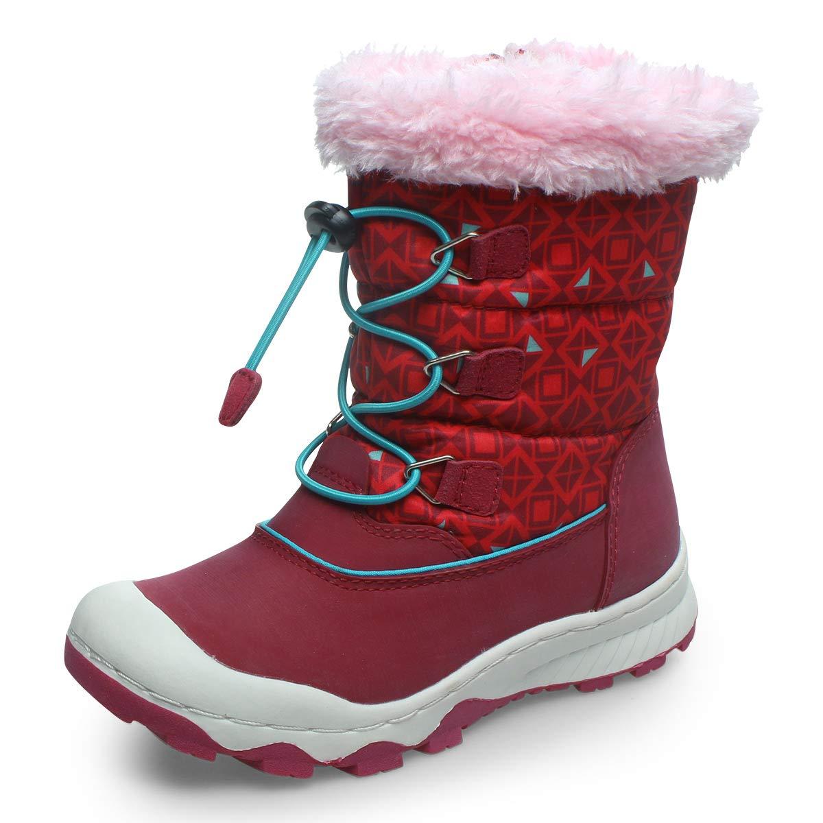 UOVO Youwo女の子の靴冬の新しい野生の雪の靴子供のブーツ子供プラスベルベットの綿のブーツ韓国のクロスボーダーホットウィスラー購入する画像のサイズチャートを参照してください