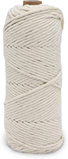 4mm 110Y Macrame Cord Rope -1/6inch Single Stand White Macrame Cotton String for Handemade Wall Hanging Weaving Basketry C...