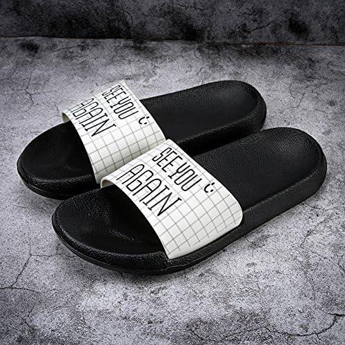 AIHUWAI Sandales Hommes Sandales Pantoufles Hommes Sandales Tongs Hommes Pantoufles D'été Plage Pantoufles Amoureux de la Glisse Femmes Styles Sandales et pantoufles mignons