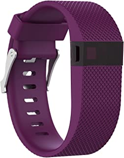 DB Leather Band for Fitbit Charge 2 Genuine Leather Glossy Wristband Fitness Flex Shine Leather Band Adjustable Bracelet Replacement Accessories
