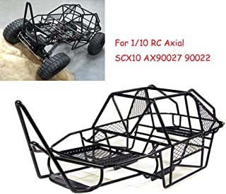 Full Metal V Steel Cage Chassis for 1/10 RC Axial SCX10 AX90027 90022 Crawler Black