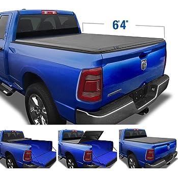 Amazon Com Lund Genesis Tri Fold Soft Folding Truck Bed Tonneau Cover 95064 Fits 2009 18 19 20 Classic Dodge Ram 1500 6 6 Bed 78 Automotive