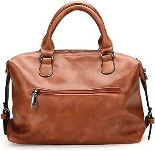 Sturdy New Large Capacity PU Bucket Handbag Messenger Handbag, Hanbag, Brown Large Capacity