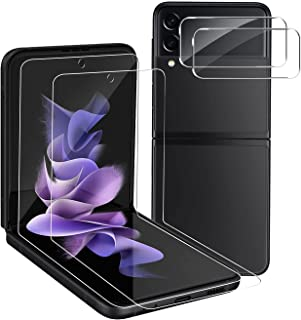 【4Pack】2 Pcs Screen Protector for Samsung Galaxy Z Flip 3, Soft Hydrogel Film anti-scratch, anti-fingerprint, no bubbles, ...