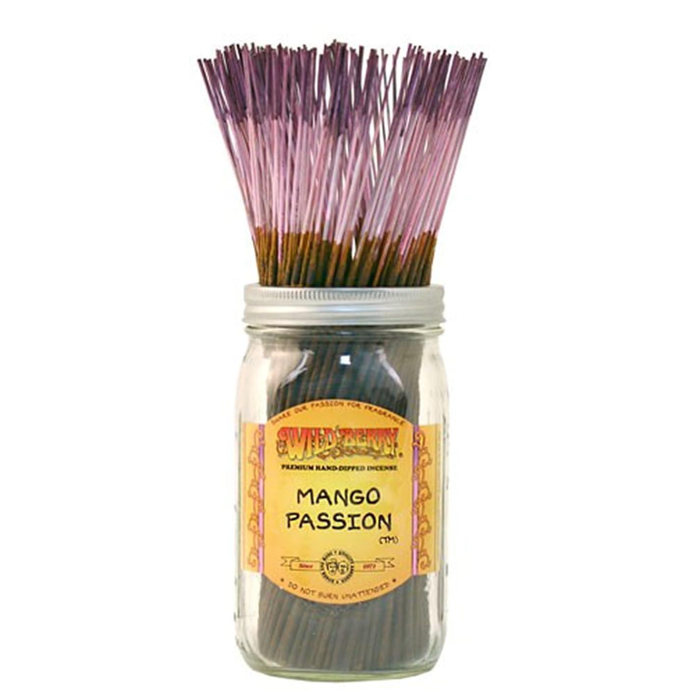 ジュニアエステートスリルWild Berry Mango Passion, Highly Fragranced Incense Sticksバルクパック、100ピース、11インチ