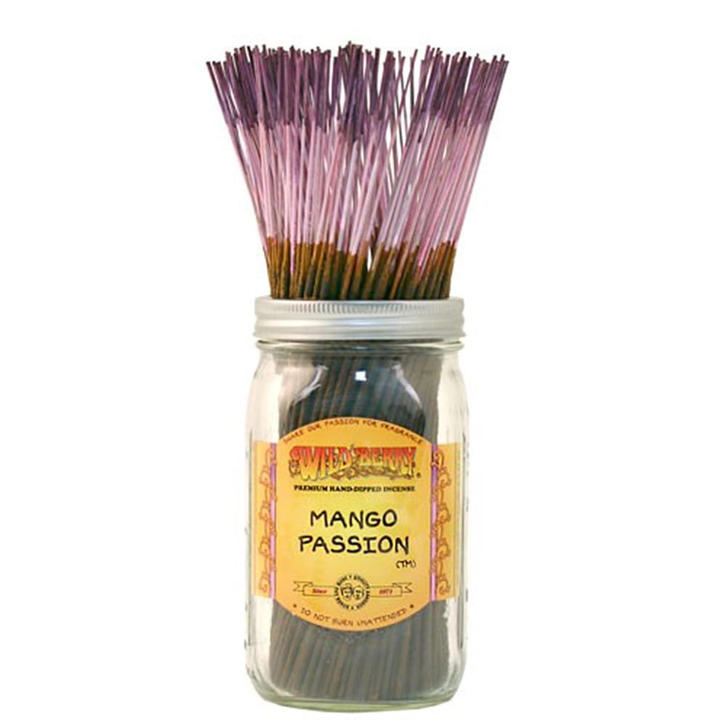 ドレイン摂氏度レンドWild Berry Mango Passion, Highly Fragranced Incense Sticksバルクパック、100ピース、11インチ