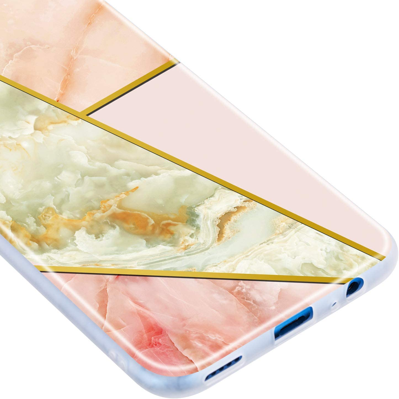 Noir Blanc Everainy Coque Compatible pour Huawei P Smart Z 2019 /Étui Silicone Souple Bumper Ultra Mince Fine Housse Marbre Motif Dr/ôle Case Antichoc Cover