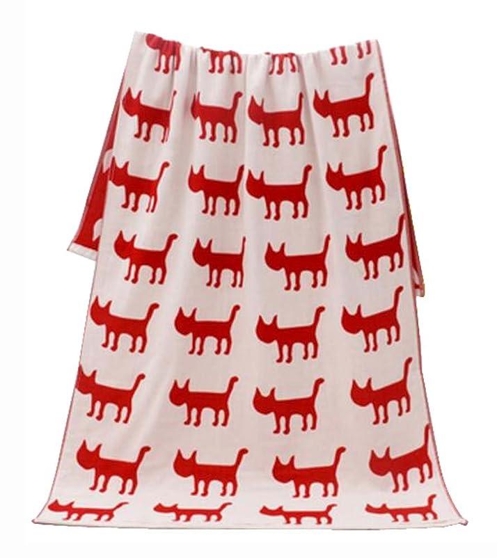 ゲインセイファックス印象派ラブリー犬のパターン軽量吸収性スポーツタオルバスタオルブランケット