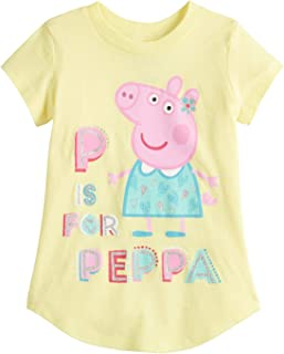 Toddler Girls 2T-5T Peppa Pig P is for Peppa Graphic Tee