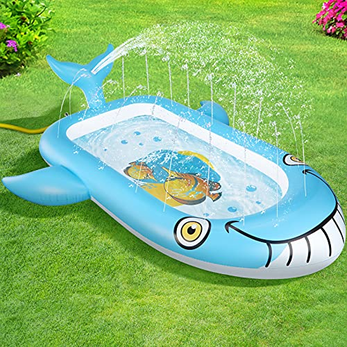 OOWOLF Splash Pad, Aspersor Almohadilla de Juego de Agua, Juguete Acuático para Niños Pulverización, Aspersor de Juegos de Agua para Niños para Jardín de Verano Actividades Familiares Fiesta Playa