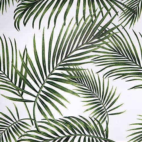 Papel Adhesivo para Muebles Hojas Verdes 45cmX5m Impermeable Papel Pintado Vinilo Pegatina Para Muebles PVC Rollo Decorativos Cocina Armario