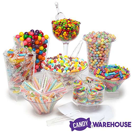 Rainbow Candy Kit - Party Candy Buffet Table: 25 to 50 Guests
