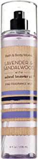 Bath and Body Works Lavender Sandalwood Fine Fragrance Mist 8 Ounce Full Size