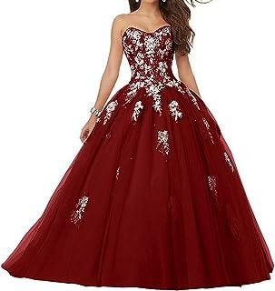 e7a0955cda3 JAEDEN Robe de mariée Robe de Quinceanera Longue Robe de Bal Robe de soirée  Tulle sans